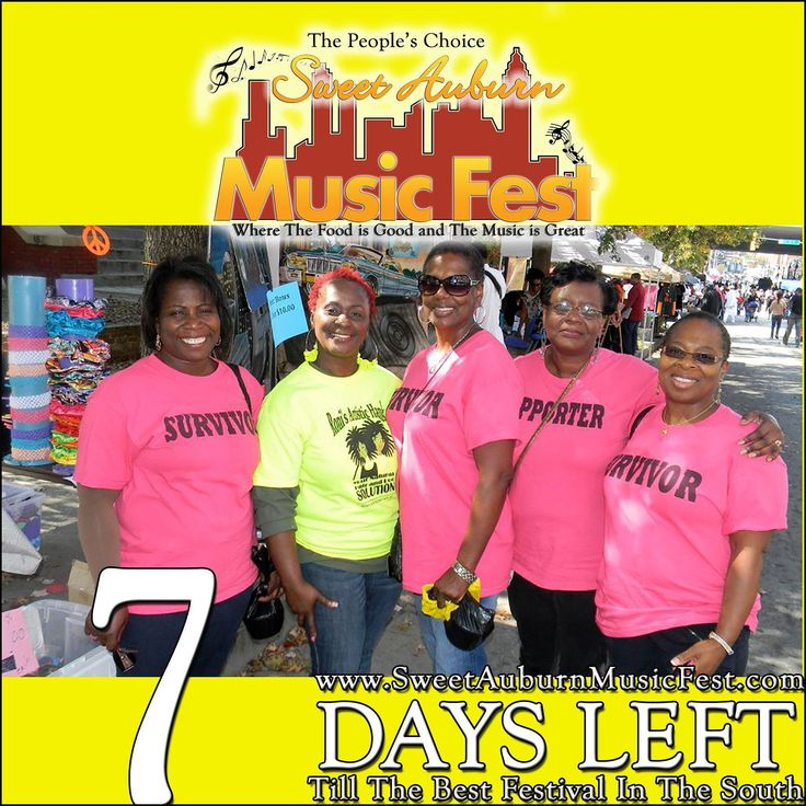 7 More Days till the best festival in the Atl! Something there for everyone in the Family! Hope to see you there! @sweetauburnmusicfest #sweetauburnmusicfest #samusicfest #samusicfest2017 #Atlanta #picoftheday #1 #hiphop #randb #musicians #music #soul #jazz #gospel #fest #festival #auburnave #edgewood #4thward #history #vendors #food #international #Georgia #family #friends #people #goodfoodgreatmusic #Pink #BreastLove #BreastCancerSurvivor