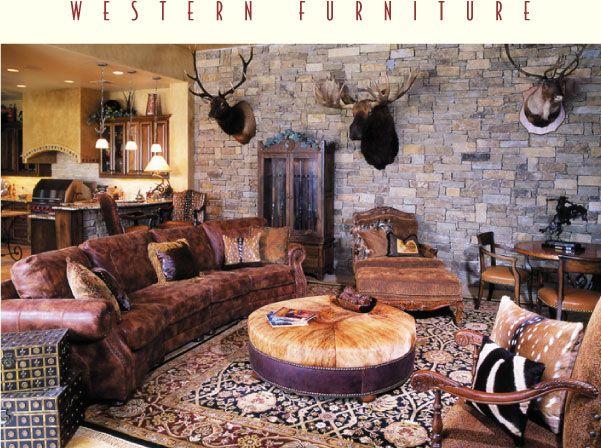 99 best Living Room❤ images on Pinterest Western furniture - western living room decor