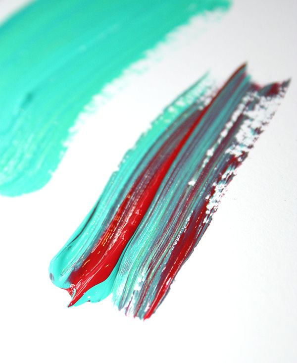 Partially mix colors before painting Instead of fully mixing the two colors, just give them a brief mix with your palette knife. Then, use the partially mixed colors to paint. You'll get a fascinating mingling of colors as you apply the paint to your work surface.