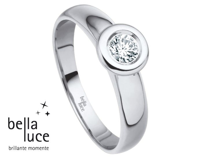 bellaluce solitaire ring: white gold, brilliant cut diamond. A solitaire is worth a thousand words. #bellaluce #solitaire #ring #diamonds