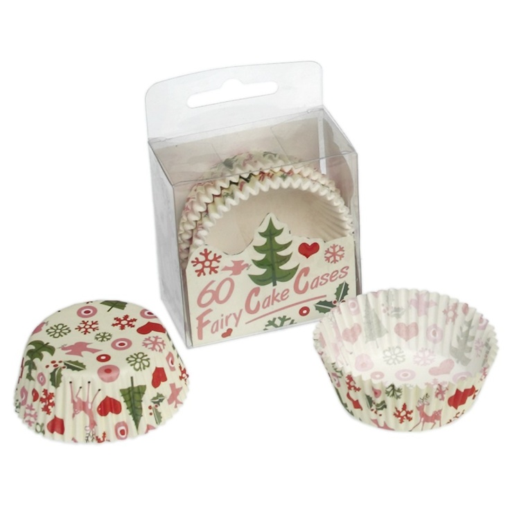 Modern Christmas Cupcake Cases (pack of 60)