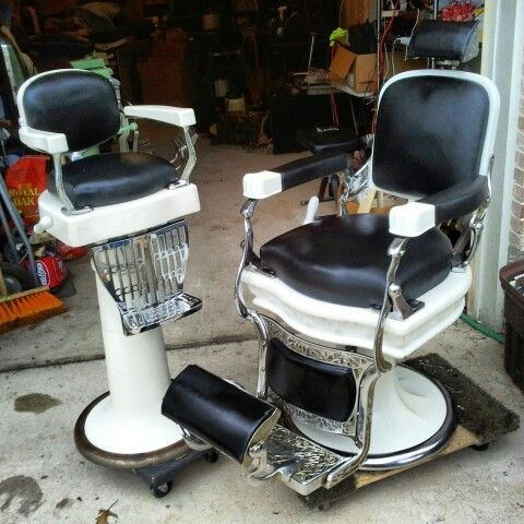 251 Best Images About Antique Barber Chairs On Pinterest