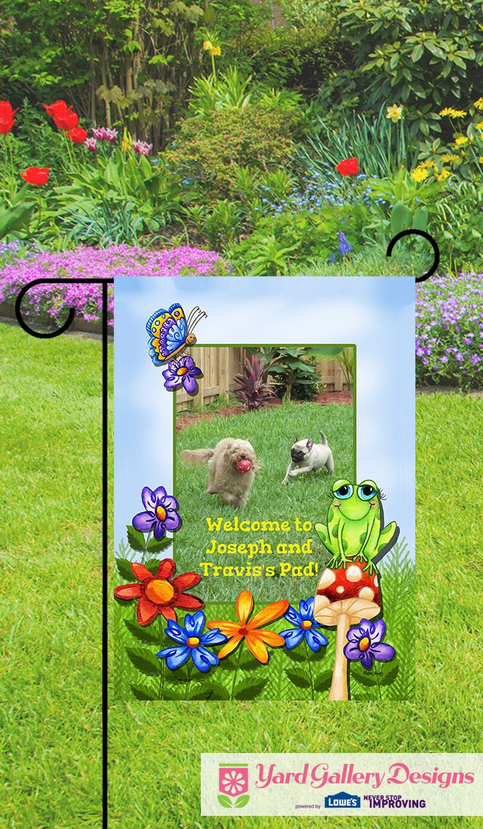 Welcome Friends And Neighbors To Your Home With A Personalized Garden Flag  From Yardgallerydesigns.com