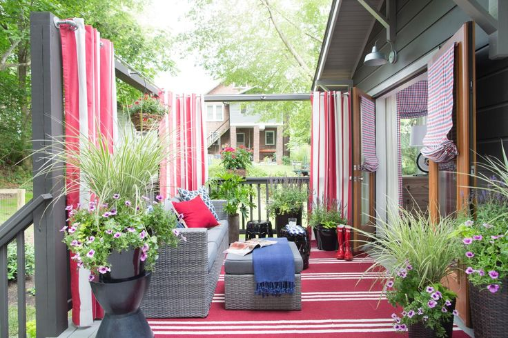 Meant to function as another room, the deck celebrates Asheville's outdoor lifestyle with plenty of entertaining space and a modern Americana theme continued from the master bedroom.