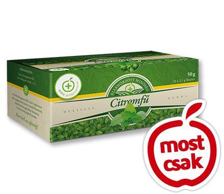 Alma Citromfű tea 20x. Alkalmas idegnyugtatásra, depresszió kezelésére. Megfázás, influenza esetén izzasztásra használható.  Emésztésjavításra és alvási problémák leküzdésre is fogyasztható. Akciós ár: 249 Ft