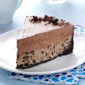Chocolate-Coffee Bean Ice Cream Cake Recipe from Taste of Home-- shared by Karen Beck of Alexandria, Pennsylvania