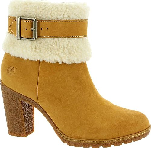 Presenting the Timberland Glancy Teddy Fleece Fold Women's Tan Boots. Contemporary boots by the designer Timberland available in Wheat. Look stylish in these boots brought to you by the designer Timberland. #boots #booties #ankleboots #shoes #fashion