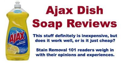 Ajax dish soap reviews, both positive and negative {on Stain Removal 101}