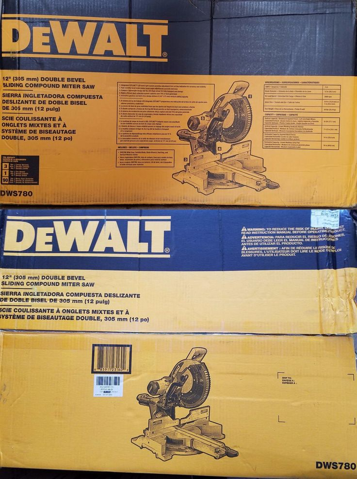 Miter and Chop Saws 20787: Dewalt Dws780 12-Inch Double Bevel Sliding Compound Miter Saw New! -> BUY IT NOW ONLY: $459.99 on eBay!