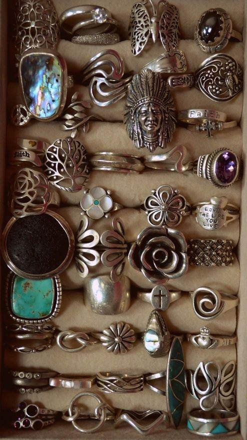 vintage boho rings
