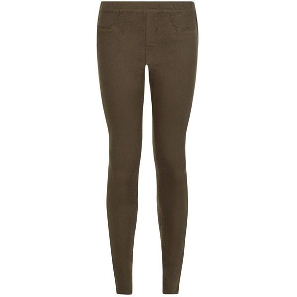 Khaki Jeggings ($21) ❤ liked on Polyvore featuring pants, leggings, brown jeggings, jeggings leggings, brown khaki pants, slimming jeggings and jean leggings