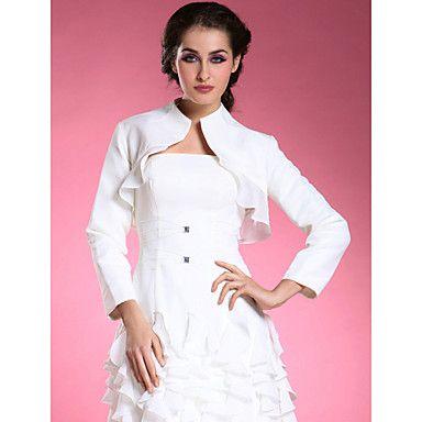 longsleeves jaqueta de cetim de seda noivas / envoltório de casamento (52024) – BRL R$60,70