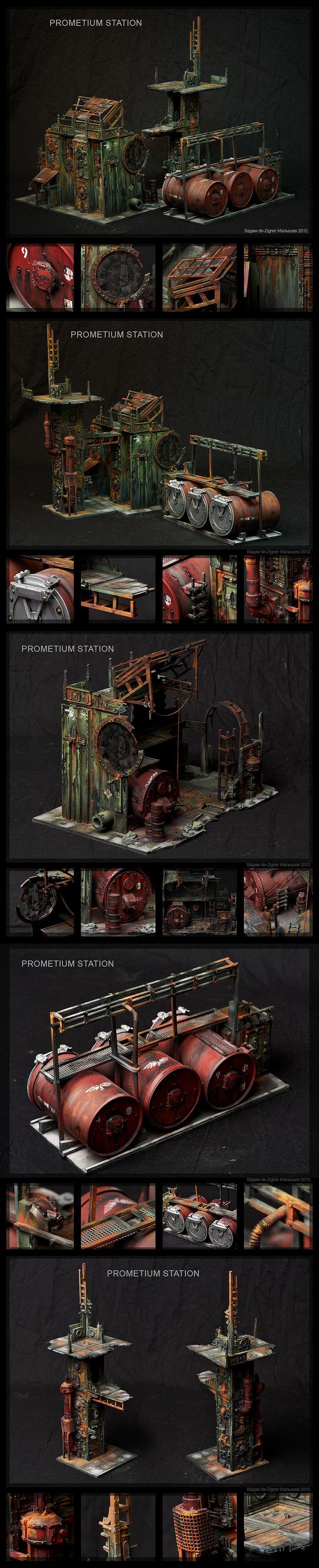 Prometium Station Diorama Model.