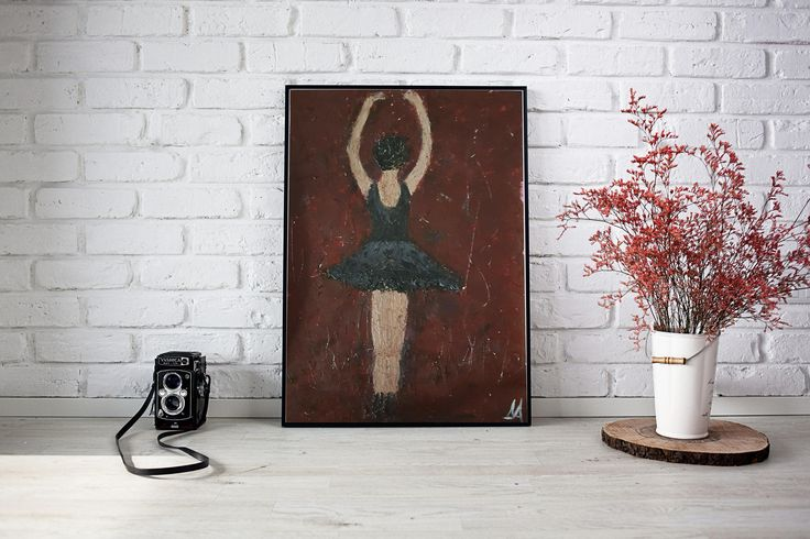 Ballerina Painting Original Acrylic Wall Art Ballet Painting Dance Painting Gift for her - by DeniseArtStudio on Etsy