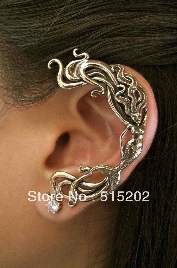 Mermaid ear cuff 2013 new trend fashion alloy earring jewelry 12 pcs/lot free shipping $18.25