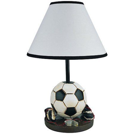 ORE International Soccer Accent Lamp, White