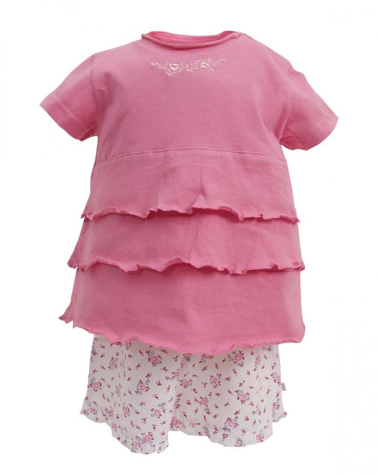 PLANET PYJAMA - Home of quality Kids pyjamas - girls layered floral shortie pyjamas, $36.95 (http://www.planetpyjama.com.au/girls-layered-floral-shortie-pyjamas/)
