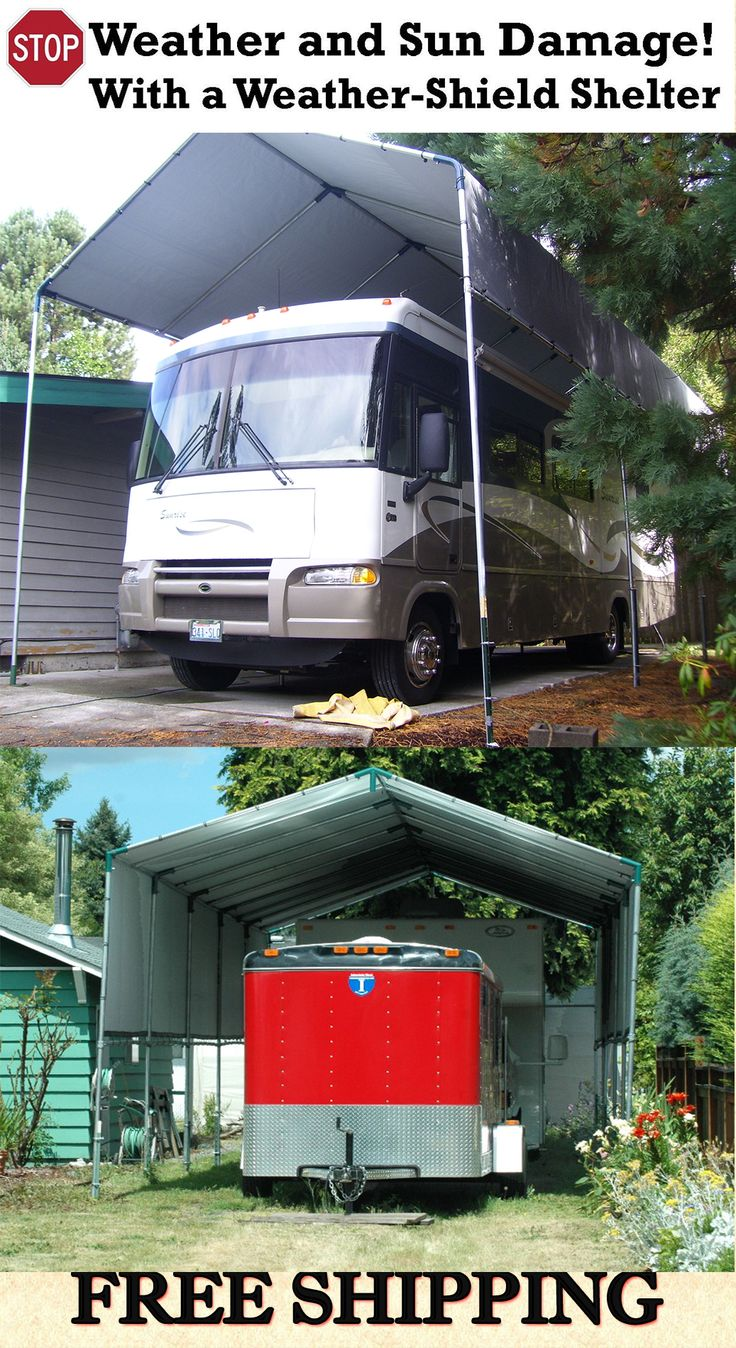 22 best images about portable carport shelters on for Boat garage kits