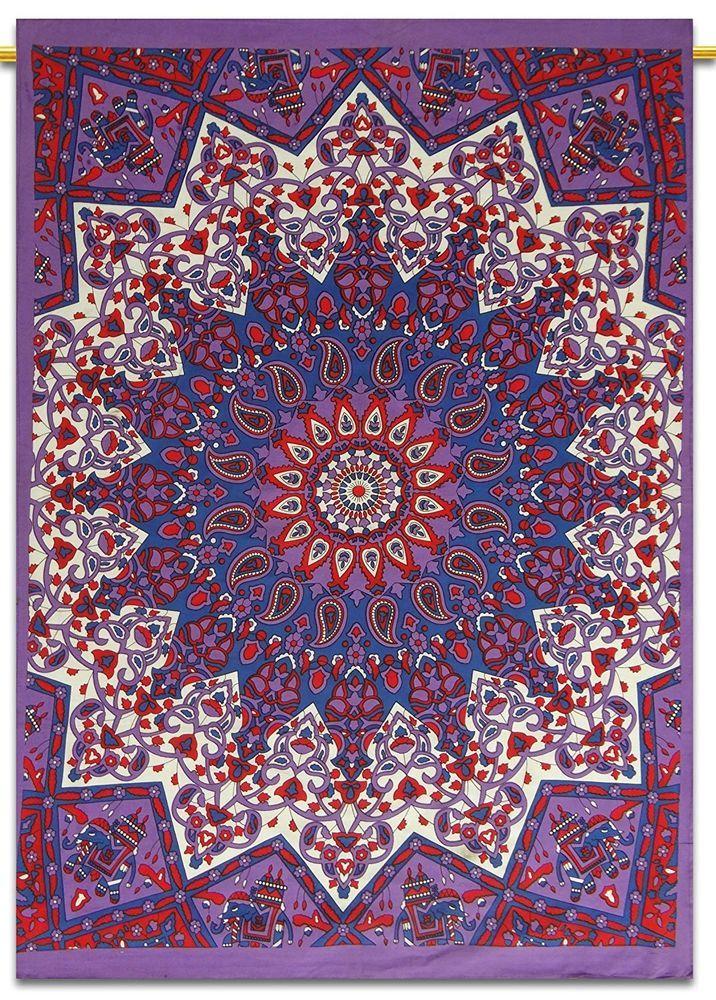 Indian Wall Hagning Cotton Mandala Yoga Mat Tapestry Ethnic Handmade Table Cover