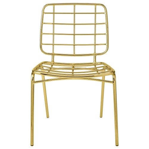 Bloomingville Mesh Chair in Gold