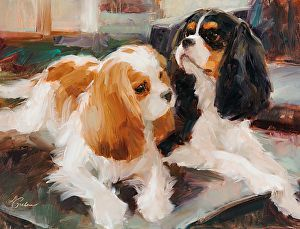 """""""Just Chillin' """" - by Lindsey Bittner Graham - Cavaliers in Art"""