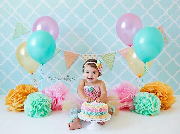 Cake smash colorful