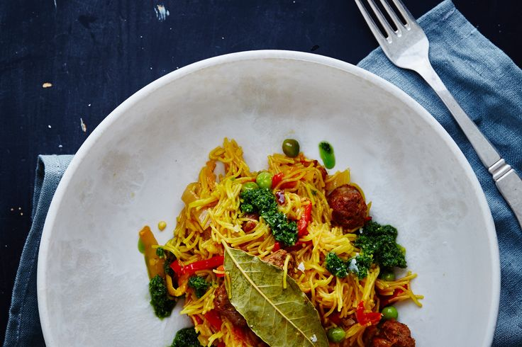 Spansk pasta med chorizo – Fideos