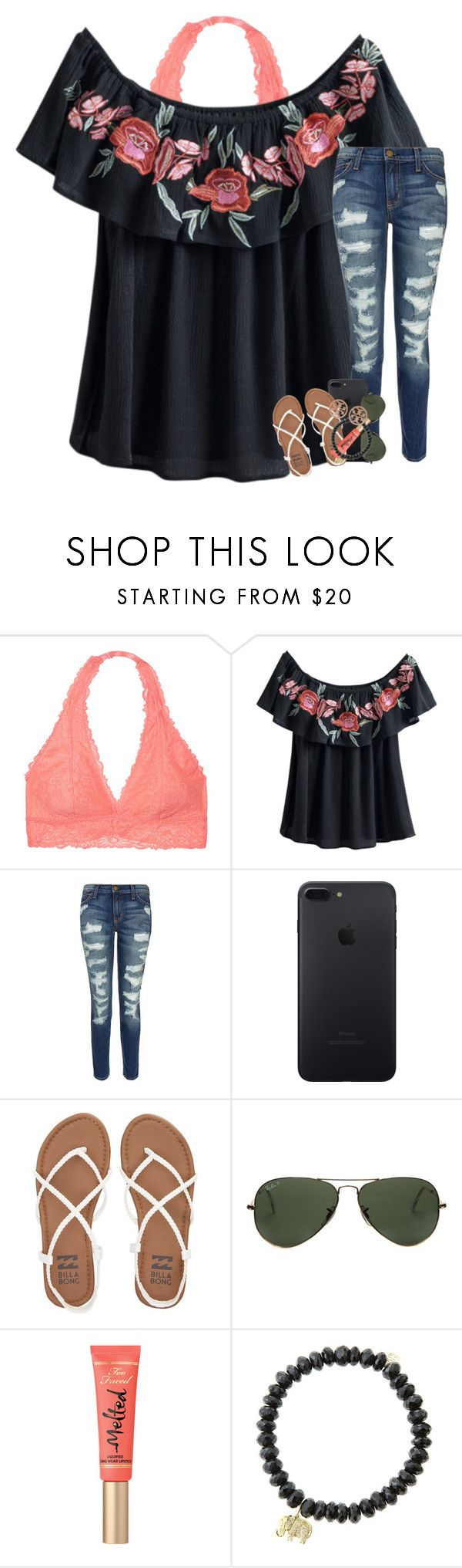 """""""happy Mother's Day to my best friend """" by preppymilitarybrat ❤ liked on Polyvore featuring Victoria's Secret, Current/Elliott, Billabong, Ray-Ban, Sydney Evan and Tory Burch"""