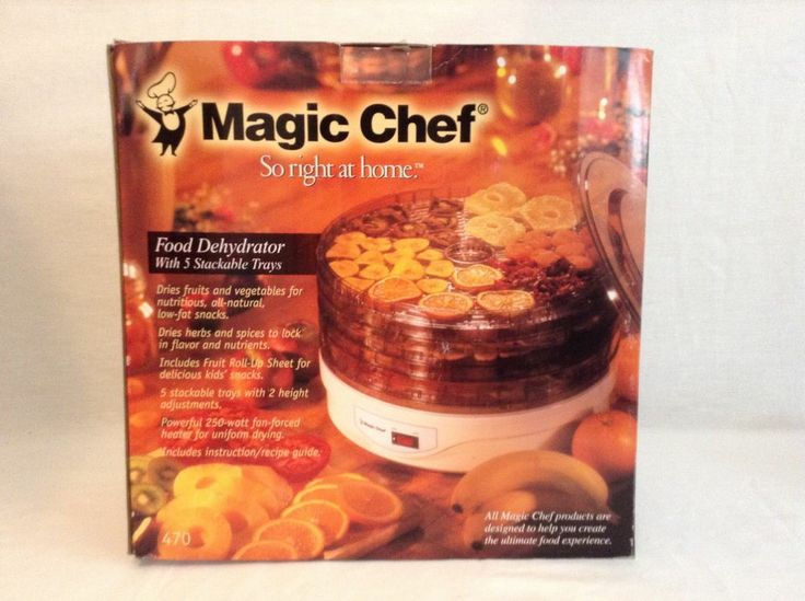 MAGIC CHEF Food Dehydrator Jerky Maker 5 Stackable Trays Model 470 NEW IN BOX