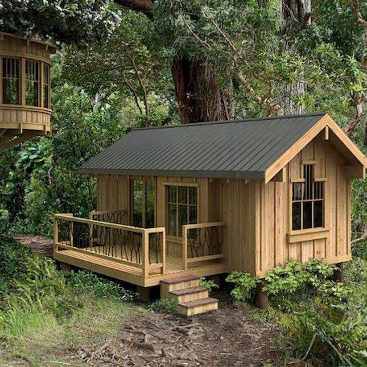 70 Fantastic Small Log Cabin Homes Design Ideas (23