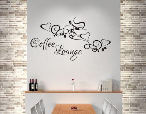 Wandaufkleber-Wandtattoo-Aufkleber-Kueche-KAFFEE-TASSE-Coffee-Lounge-Dekor-123