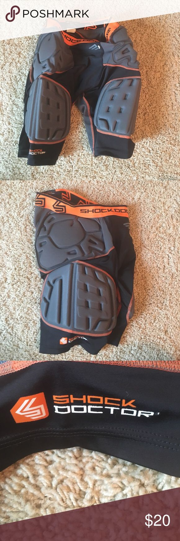 Football Padded Shorts Men's padded football shorts. In like new condition!!! Shock Doctor Shorts Athletic