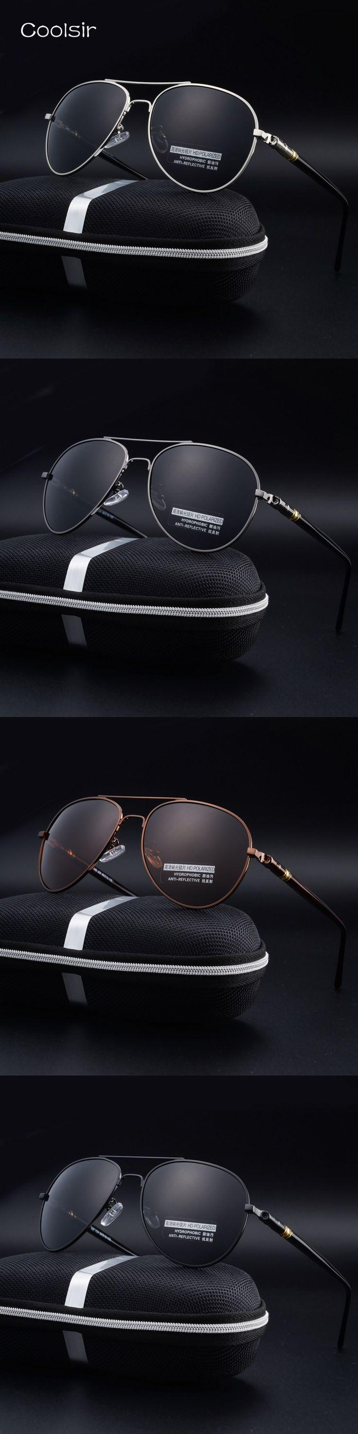Coolsir Brand Design Polarized Aviator Sunglasses Men Classic Vintage Metal Frame Goggles Pilot Sunglasses Lentes De Sol Hombre