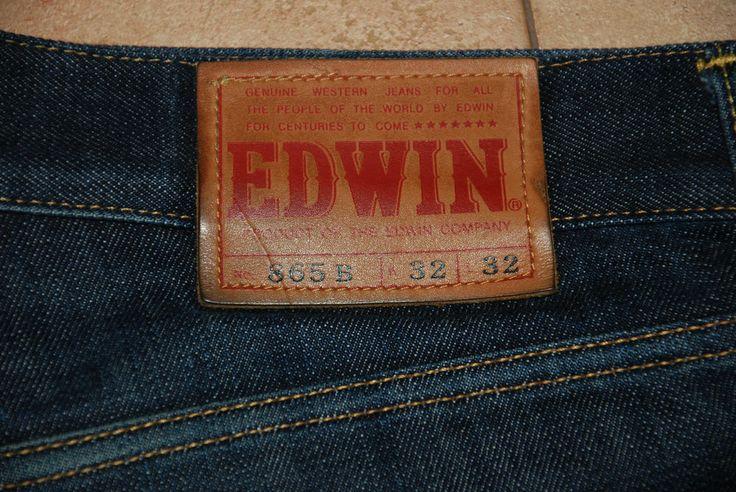 EDWIN 865B MENS JEANS NASHVILLE JAPANESE SELVEDGE DENIM DARK BLUE W 34 L 34 RED