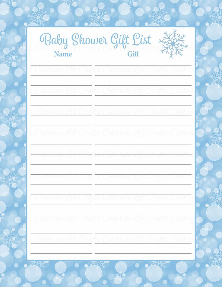 1000 ideas about baby shower gift list on pinterest for Baby shower decoration checklist