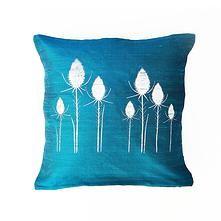 handprinted handmade silk drum lampshades and cushions