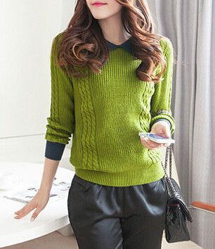 HEE GRAND 2017 Autumn Hot Sale Women Sweater Casual Peter Pan Collar Full Sleeve Striped Pullover Tricotada Camisola WZL299