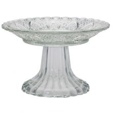 Vintage Style Glass Cake Stand