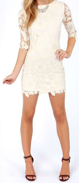 Add some length and would be a good rehearsal dinner dress for the bride