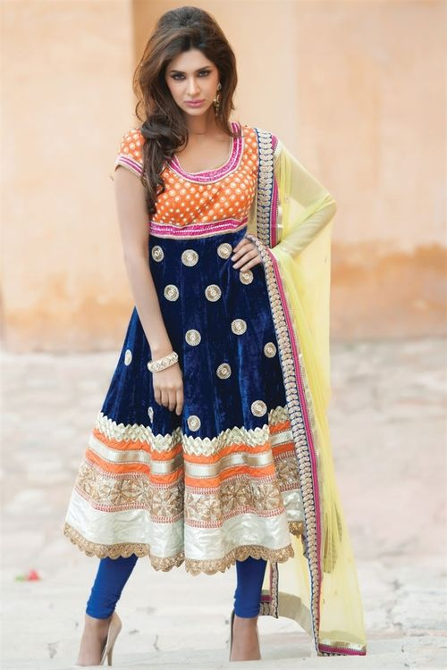 Love the colors! #Indian #fashion #anarkali