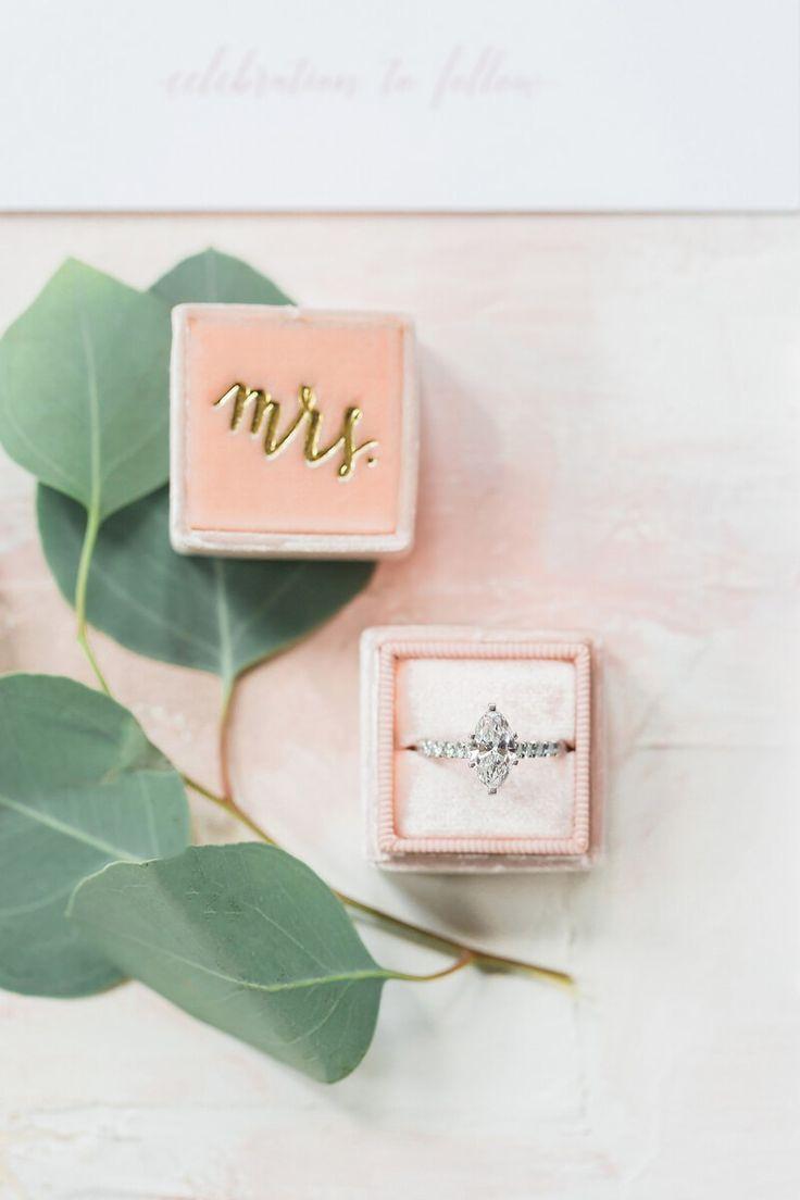 Blush wedding ring box