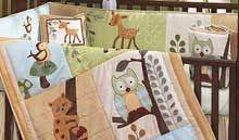 Enchanted Forest Owl Crib Bedding--babysupermall.com