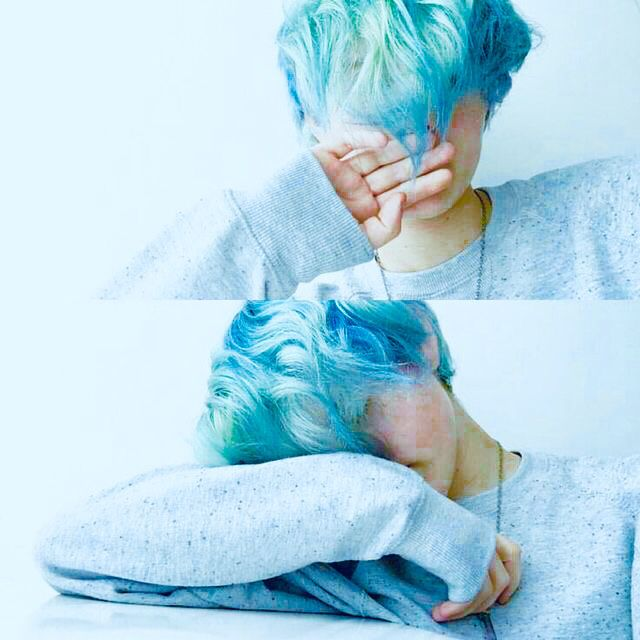 Blue Hair Edit With Images Light Blue Hair Boys Blue Hair