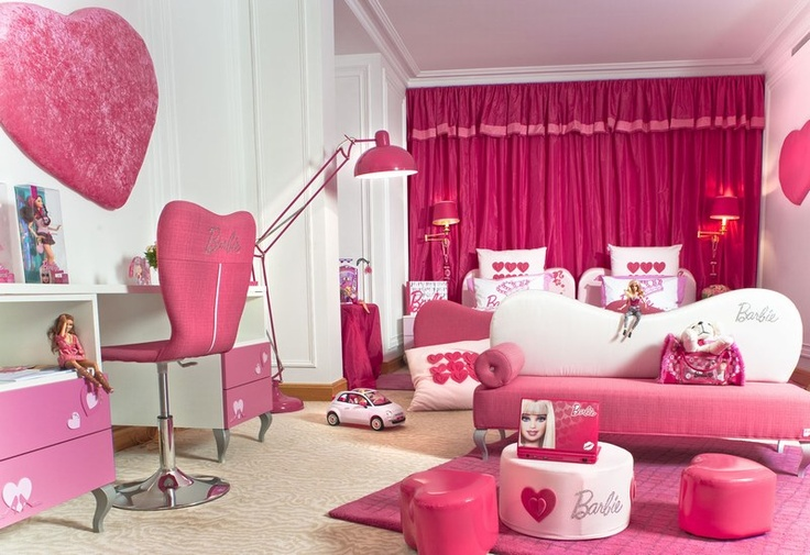 Barbie room at the Hotel Plaza Athénée Paris, France