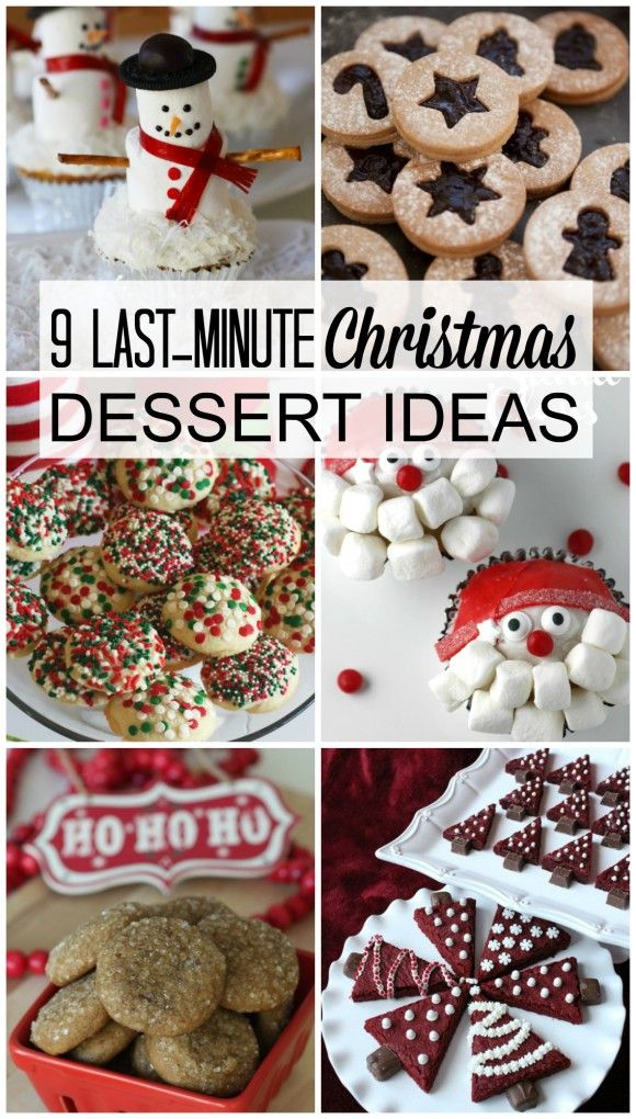 9 last-minute Christmas dessert ideas and recipes. They're delicious and easy to make. See more Christmas party ideas at CatchMyParty.com.