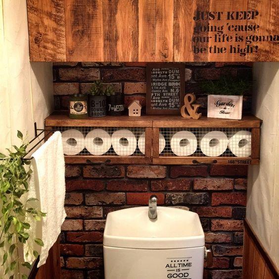 トイレのおしゃれ収納実例35選♪毎日使う空間だからこそ狭くても快適に! | folk