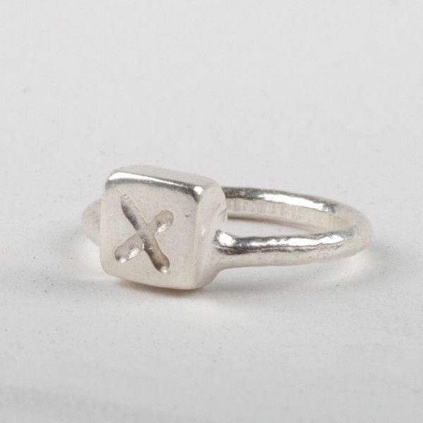 X Box Ring - Silver | DARKBLACK $150 NZD