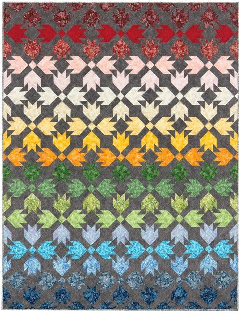 "<p>Designed by Robert Kaufman Fabrics, this quilt measures 68"" x 85"".</p>"