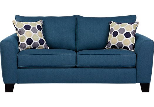 picture of Bonita Springs Blue Sleeper Loveseat  from Sleeper Loveseats Furniture