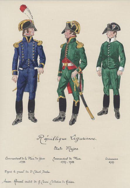 République Ligurienne Etats Majors Commandant de la place de gênes 1799…
